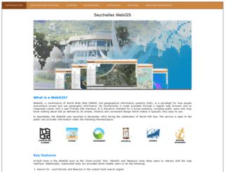 webgis.gov.sc screenshot
