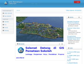 webgis.lpmpjabar.go.id screenshot