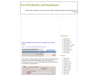 webheader-banner.blogspot.com screenshot