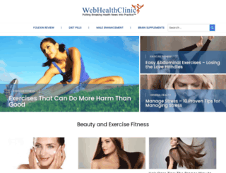 webhealthclinic.com screenshot