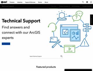 webhelp.esri.com screenshot