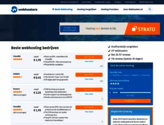 webhosters.nl screenshot