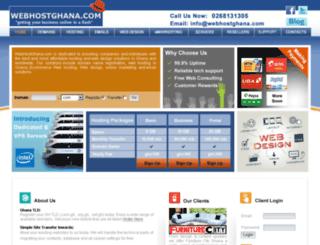 webhostghana.com screenshot