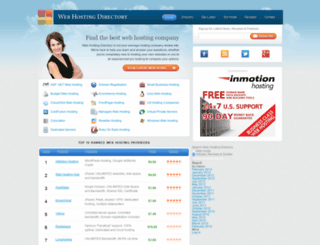 webhosting-directory.org screenshot