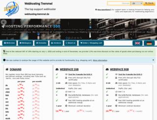 webhosting-tremmel.de screenshot