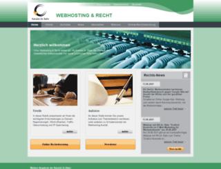 webhosting-und-recht.de screenshot