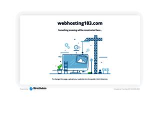 webhosting183.com screenshot