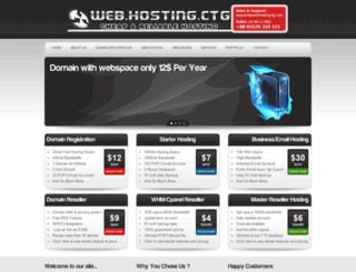 webhostingctg.com screenshot