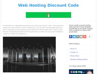 webhostingdiscountcode.co.uk screenshot