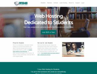 webhostingforstudents.com screenshot