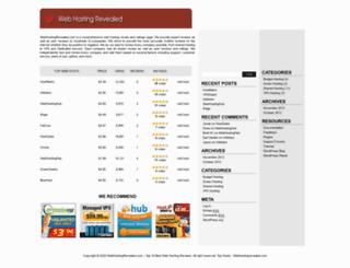 webhostingrevealed.com screenshot