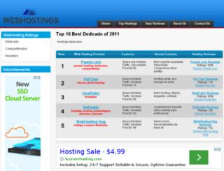 webhostings.com.br screenshot