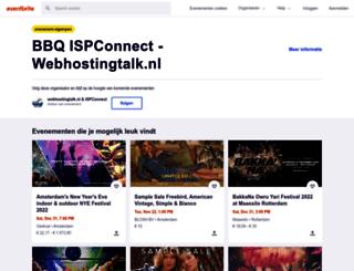 webhostingtalk-ispconnect.eventbrite.nl screenshot