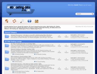 webhostingtalks.co.uk screenshot