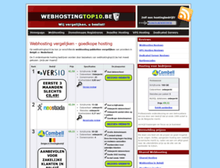 webhostingtop10.be screenshot