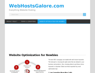 webhostsgalore.com screenshot