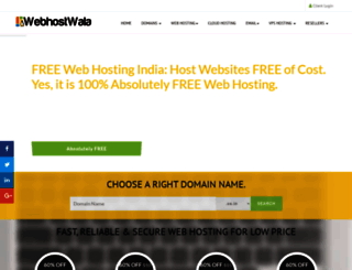webhostwala.com screenshot