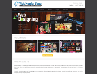 webhunterzone.com screenshot
