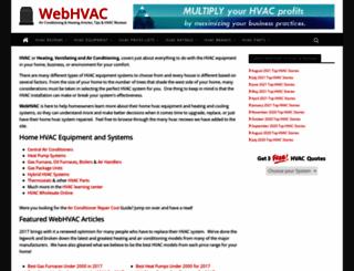 webhvac.com screenshot