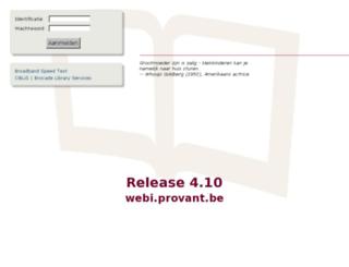 webi.provant.be screenshot