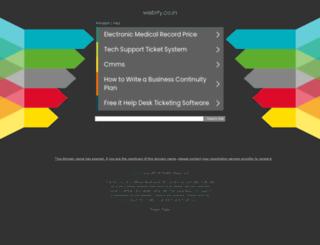 webify.co.in screenshot