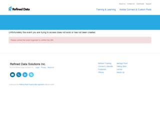 webinar.refineddata.com screenshot