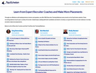 webinars.topechelon.com screenshot