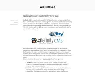 webinfotalk.wordpress.com screenshot
