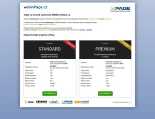 webinpage.cz screenshot