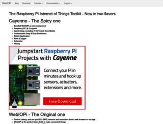 webiopi.trouch.com screenshot