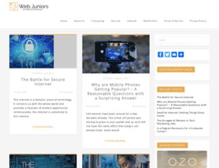 webjuniors.com screenshot
