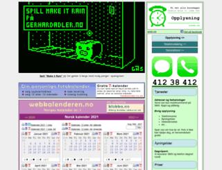 webkalenderen.no screenshot