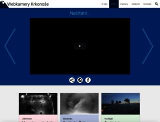 webkamery-krkonose.cz screenshot