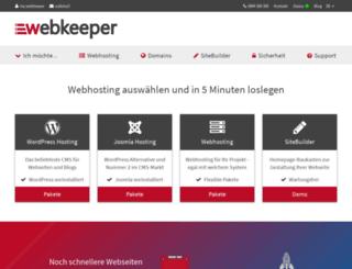 webkeeper.ch screenshot