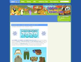 webkinzinsider.com screenshot