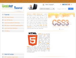 webkittutorial.com screenshot