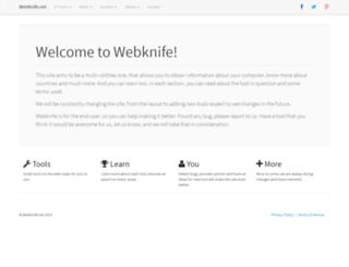 webknife.net screenshot
