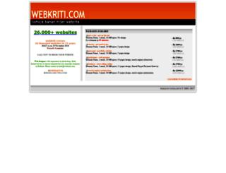 webkriti.com screenshot