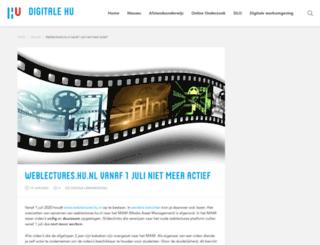 weblectures.hu.nl screenshot