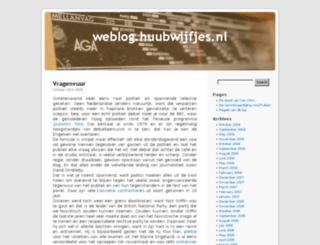 weblog.huubwijfjes.nl screenshot