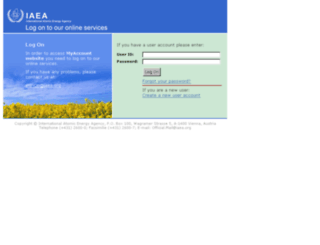 weblogin.iaea.org screenshot