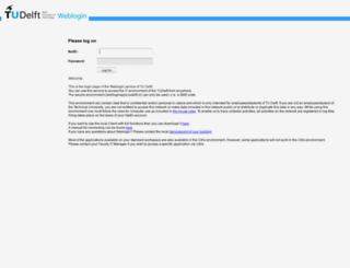weblogin.tudelft.nl screenshot