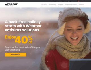weblogin.webroot.com screenshot