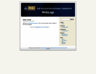 weblogs.anu.edu.au screenshot