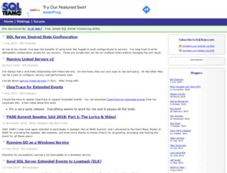 weblogs.sqlteam.com screenshot