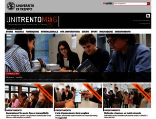 webmagazine.unitn.it screenshot
