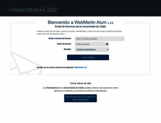 webmail-alum.uca.es screenshot