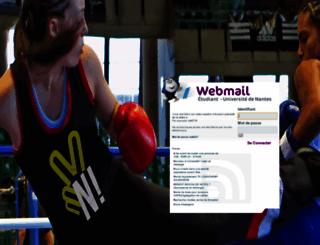 webmail-etu.univ-nantes.fr screenshot
