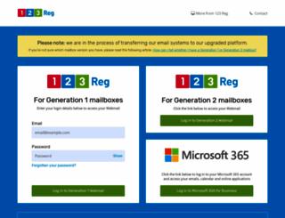 webmail.123-reg.co.uk screenshot