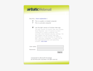 webmail.airbaltic.com screenshot